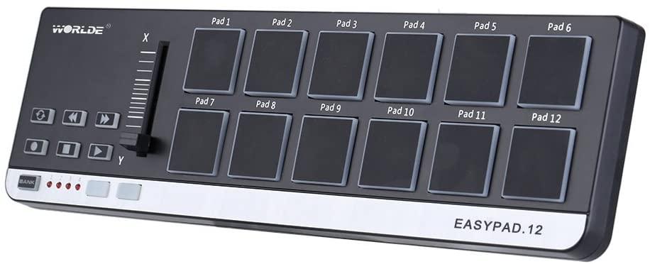 Ammoon Worlde EasyPad 12Contrôleur USB/MIDI portable à 12 pads
